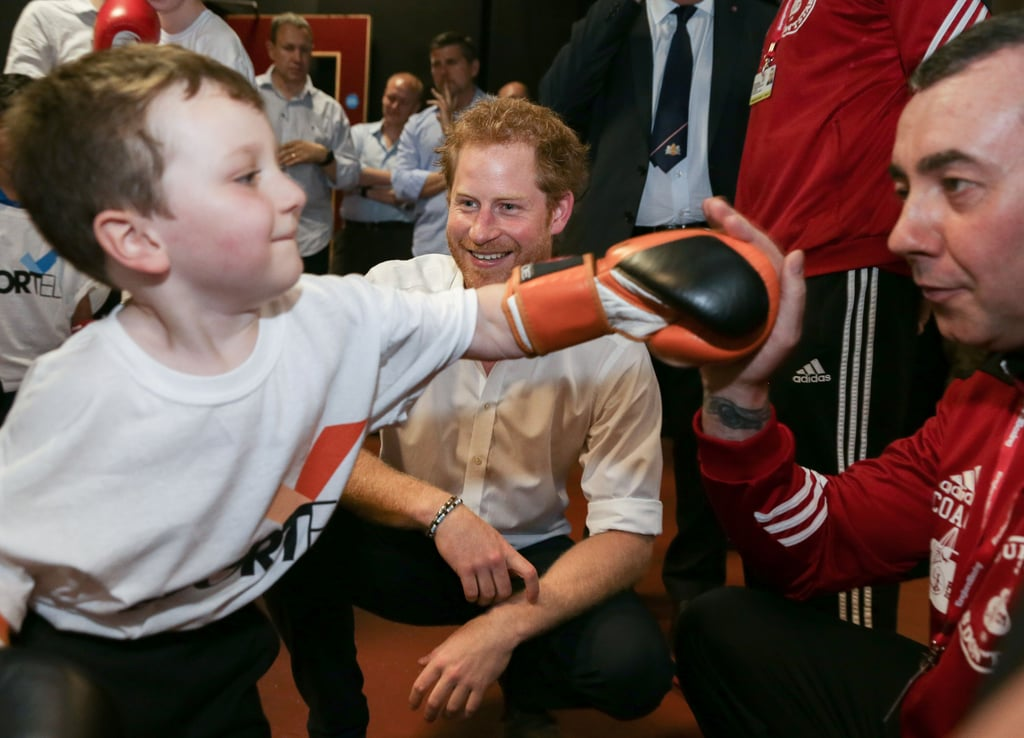 The prince met with a group of talented young boxers at Double Jab Boxing in South East London in June.