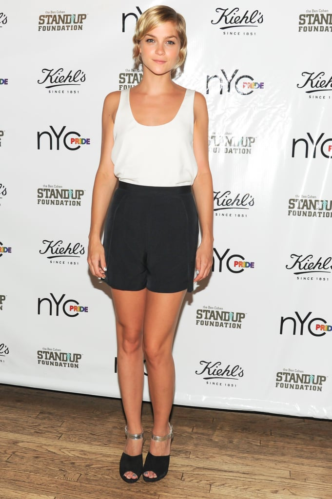 In NYC, Leigh Lezark kicked off Pride Week with Kiehl's wearing a crisp black and white ensemble.
