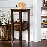 Anywhere Tuscan Brown Pedestal Table With Pull Handles