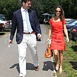 Pippa Middleton with boyfriend Alex Loudon in England.