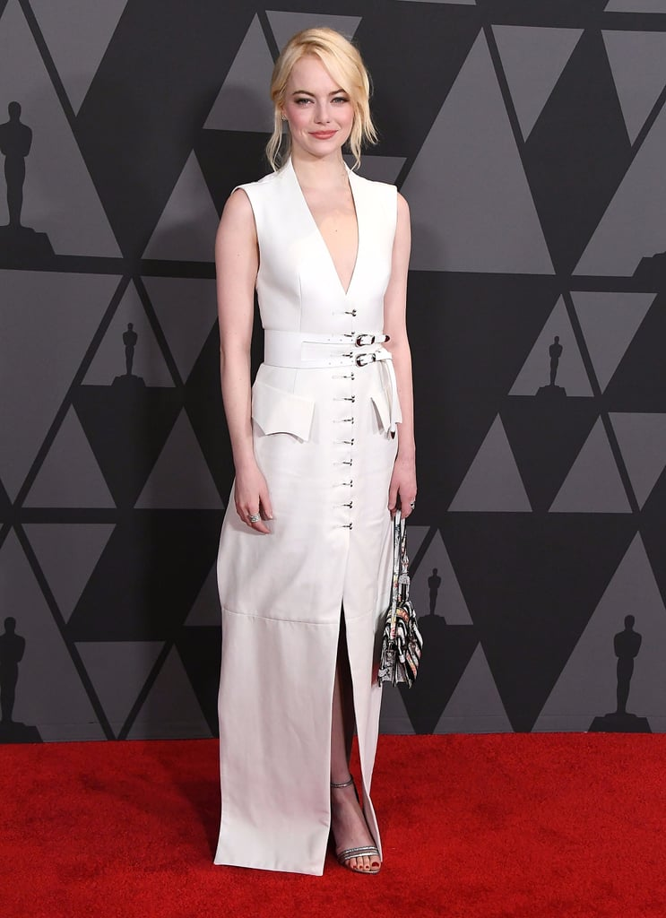 Emma Stone's White Gown Is Way More Business Babe Than Bridal