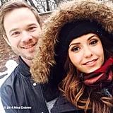 Nina Dobrev and Shawn Ashmore made snowmen together. Source: Nina Dobrev on WhoSay