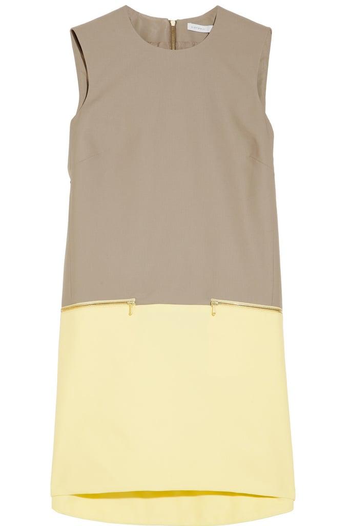 Victoria, Victoria Beckham Tan and Yellow Colorblock Shift Dress ($157, originally $785)