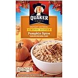 Pumpkin Spice Quaker Instant Oatmeal