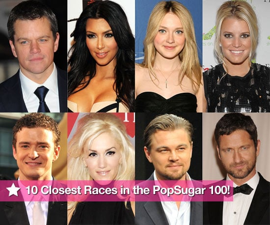 The 10 Closest Races in Round Two of the PopSugar 100!