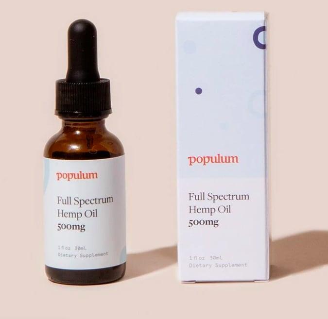 Populum 500 Milligram Full-Spectrum Hemp Oil