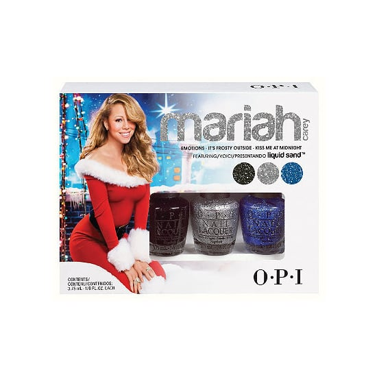 OPI Mariah Carey Liquid Sand Mini Pack ($10) comes with three glittery polishes that dry matte for a textured effect.