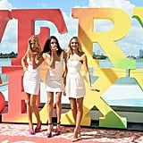 Adriana Lima, Erin Heatherton, and Candice Swanepoel modeled at the Mondrian.