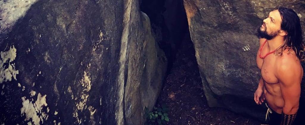 Jason Momoa Rock Climbing Instagrams