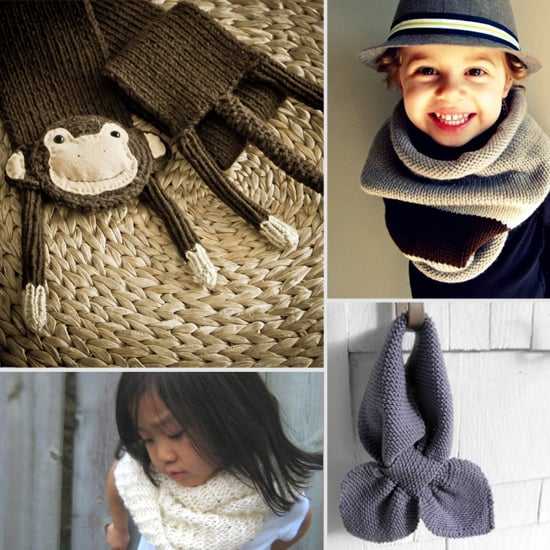 Hand-Knit Scarves For Kids