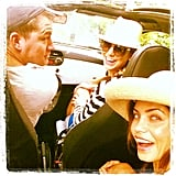 Jenna Dewan and Channing Tatum took a sunny ride through Italy with Stacy Keibler.  Source: Instagram user stacykeibler