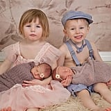 2 Sets of Twins Newborn Photo Shoot