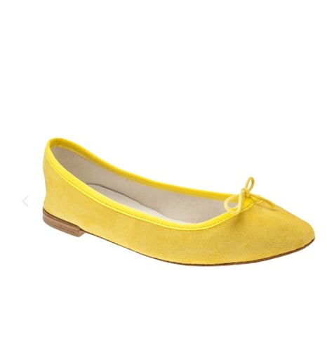 With these Repetto ballerina pumps ($285), you'll get a pop of color in the sunniest hue from a classic brand you know will last. They'll look particularly bright with a little white dress and denim jacket.
