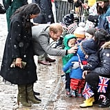 Meghan Markle Sarah Flint Boots Bristol Visit February 2019