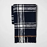 Plaid Cotton Throw Blanket