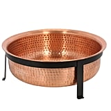 Hand Hammered Copper Fire Pit