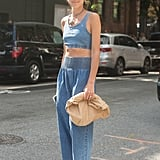 Style a Chambray Crop Top and Matching Pants