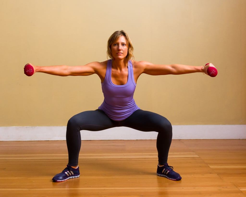 Plié Squat With Lateral Arm Raises