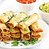 Easy Baked Wonton Chicken Taquitos