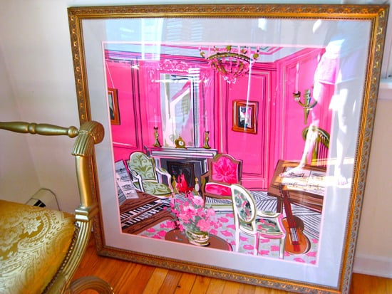 Cool Idea: A Framed Scarf Makes Instant Art