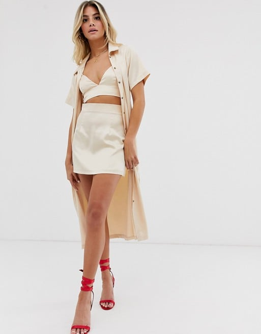ASOS In The Style x Fashion Influx Satin Skirt