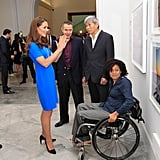 Catherine, Duchess of Cambridge, chatted to photographers Johnathan Anderson, Edwin Low, and Paralympian Alexandra Rickham.
