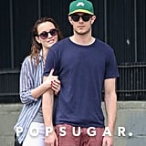 A few months after tying the knot, Leighton sweetly held onto her man while walking around NYC in May 2014.