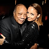Nicole shared a cute moment with her godfather, Quincy Jones, during a pre-Grammys gala in LA in February 2013.