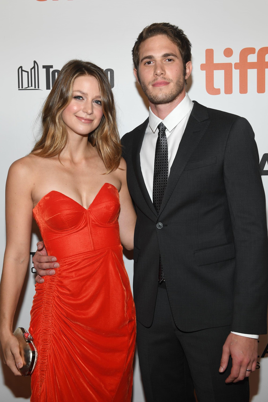 Melissa Benoist and Blake Jenn...