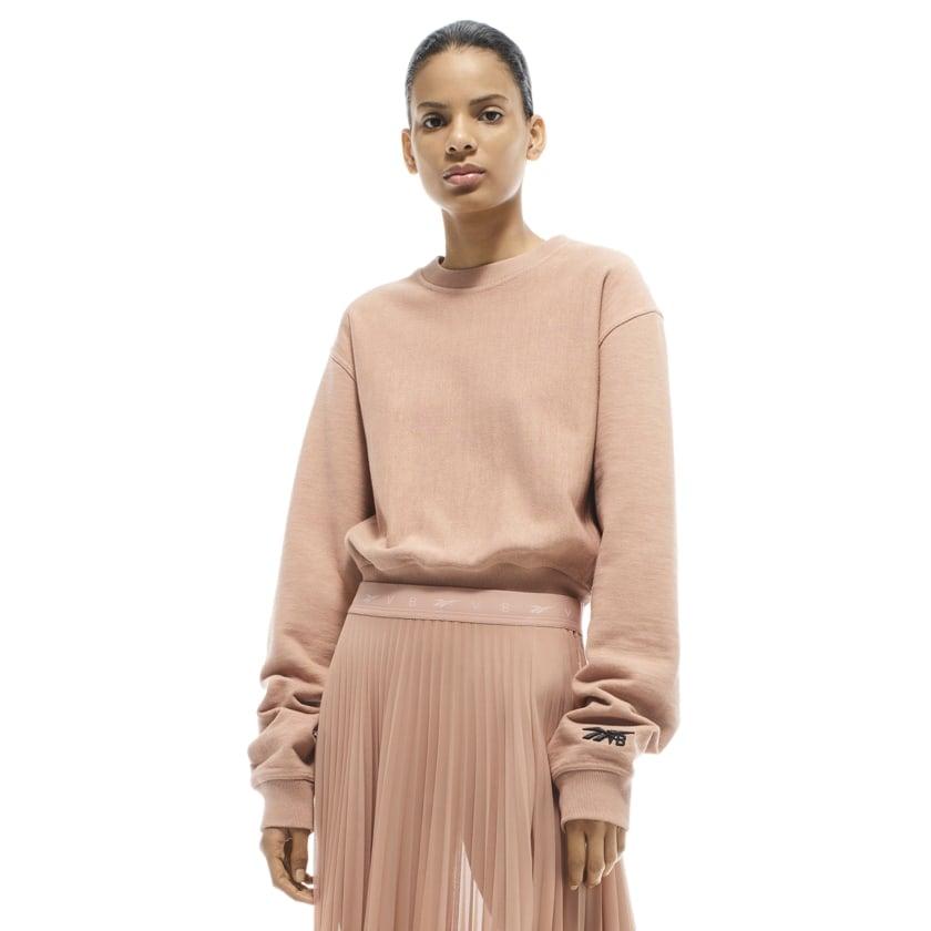 Reebok x VB Cropped Sweatshirt — Brown