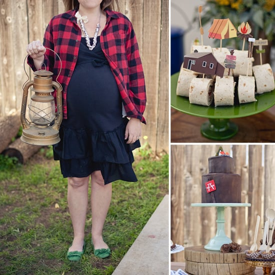 Rustic, Camping Themed Baby Shower