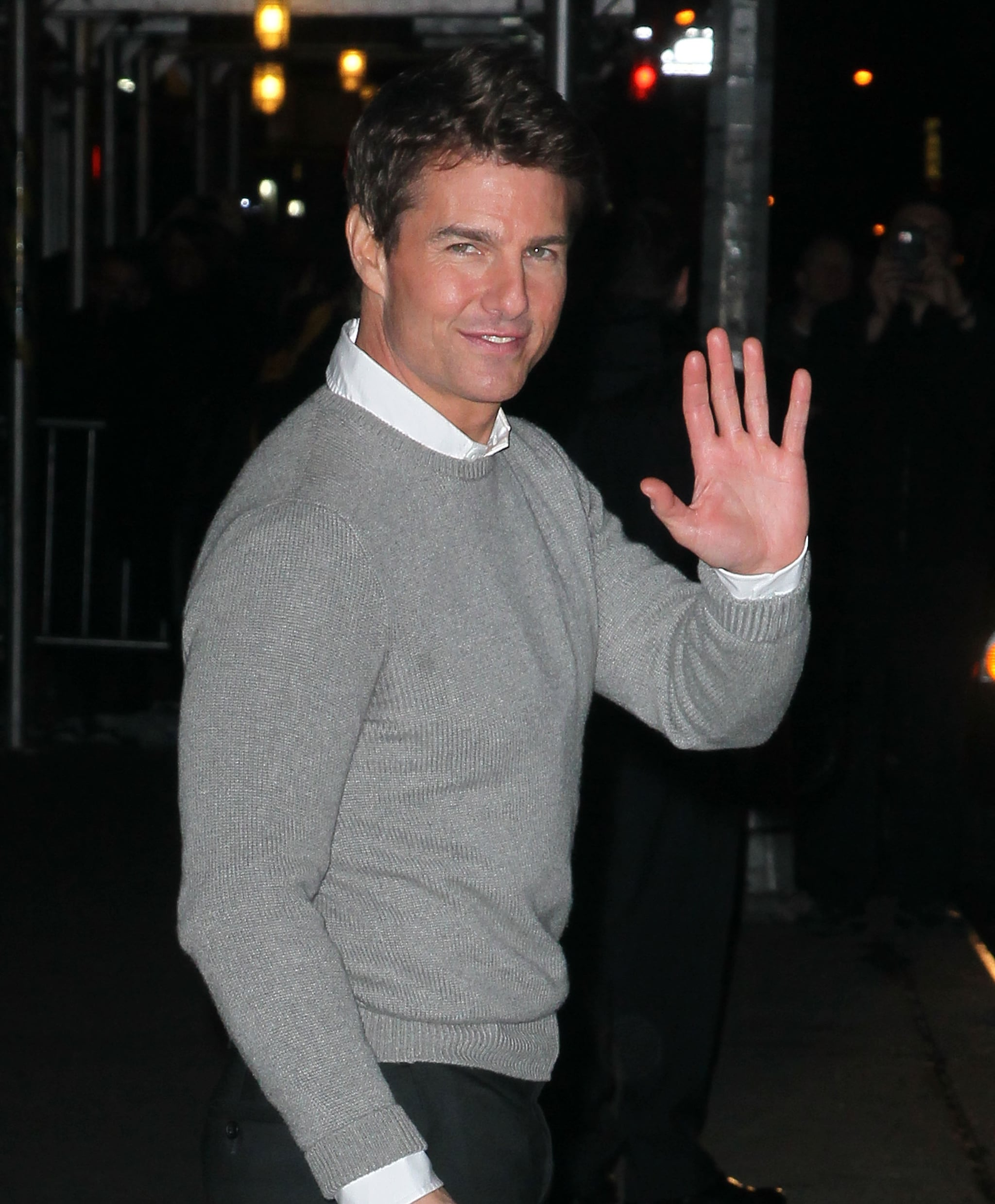 Tom Cruise was in town promoting his new film.