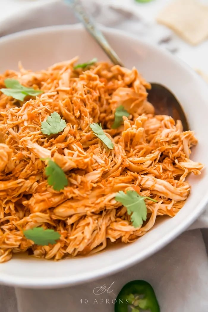 3 Ingredient Mexican Shredded Chicken Healthy Chicken Instant Pot Recipes Popsugar Fitness