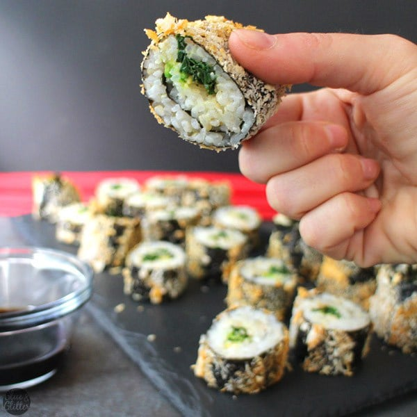 Vegan Air Fryer Sushi Rolls