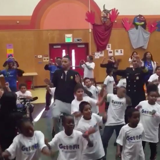 Stephen Curry Dancing With Kids For #NBAFit