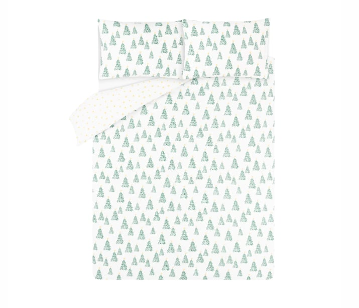 George Home White Trees Easy Care Duvet Set
