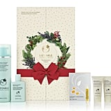 Liz Earle (£35) This eight-door calendar contains cleanse and polish hot cloth cleanser, skin tonic, and brightening treatment mask. It's available at the end of November exclusively from Boots.