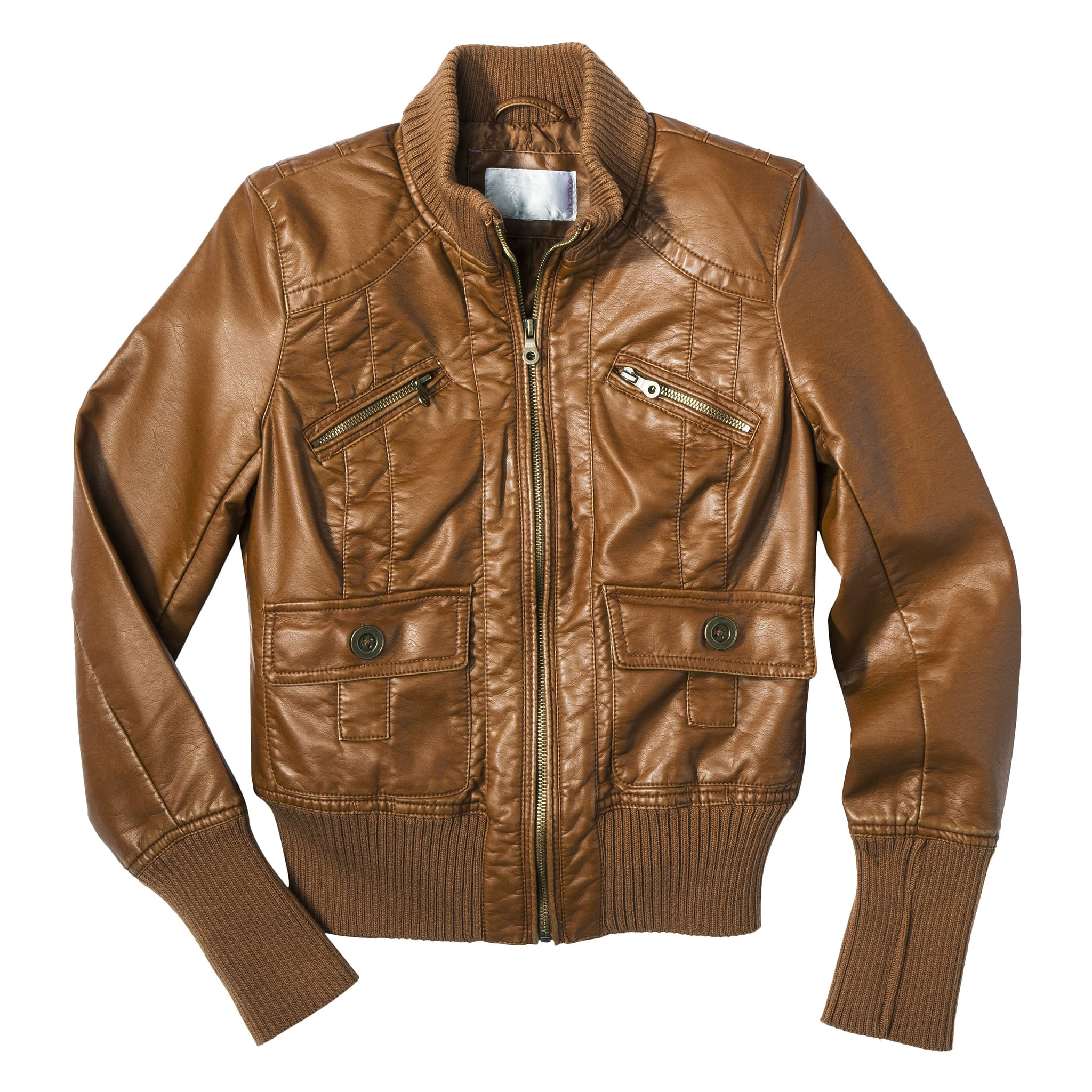 Head into Fall with a classic leather bomber jacket ($40) ready to be layered over everything.