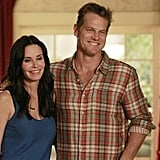 Courteney Cox and Brian Van Holt on Cougar Town.