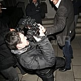 Michael Fassbender kidded with a photographer in London.