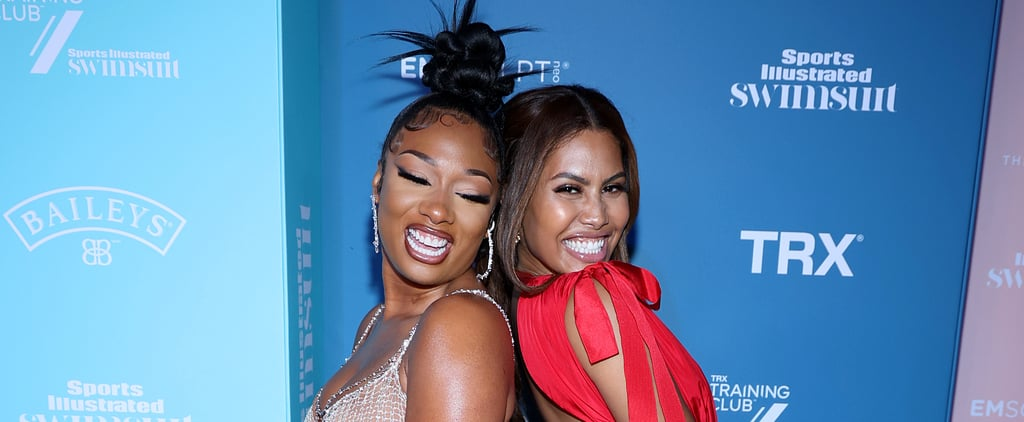 Megan Thee Stallion, Leyna Bloom at Sports Illustrated Party