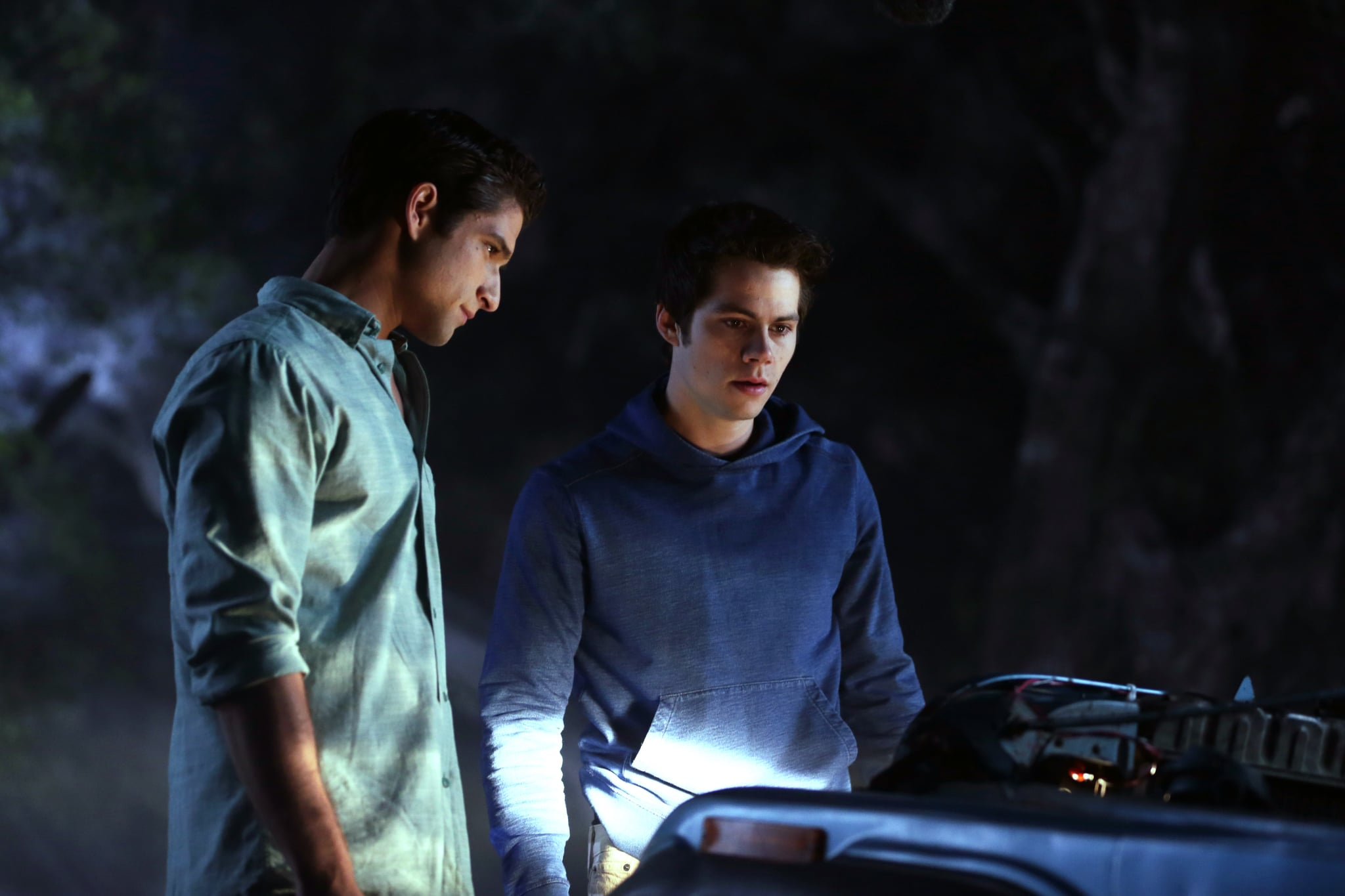 TEEN WOLF, (from left): Tyler Posey, Dylan O'Brien, 'Parasomnia', (Season 5, ep. 502, aired June 30, 2015). photo:  MTV / Courtesy: Everett Collection