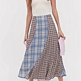 UO Selena Plaid Midi Skirt