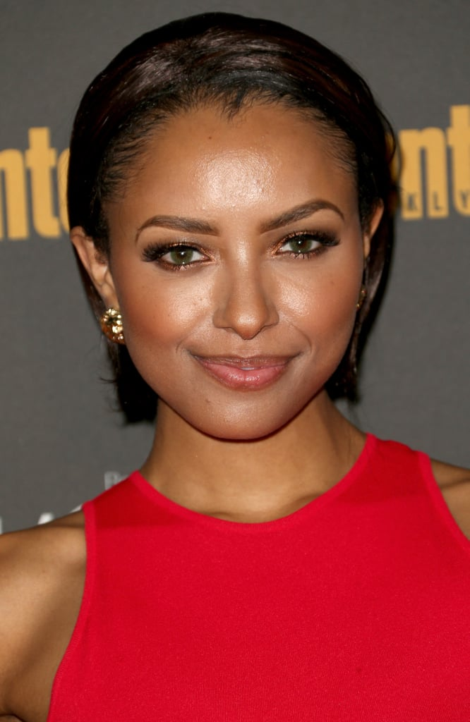 Kat Graham let her natural beauty shine at Entertainment Weekly's pre-Emmys party.