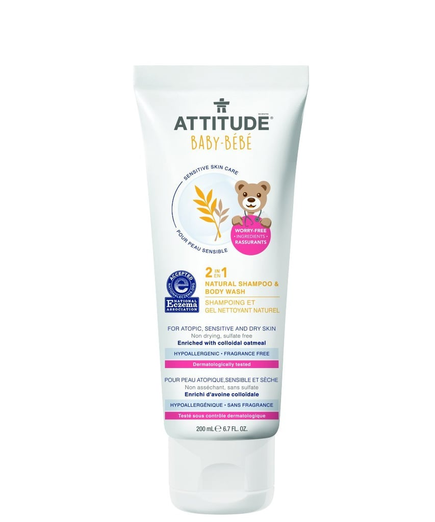Attitude 2-in-1 Natural Shampoo & Body Wash Baby, Fragrance Free ($10)