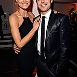 Zac Efron and Taylor Schilling were arm in arm at the premiere for The Lucky One in LA.