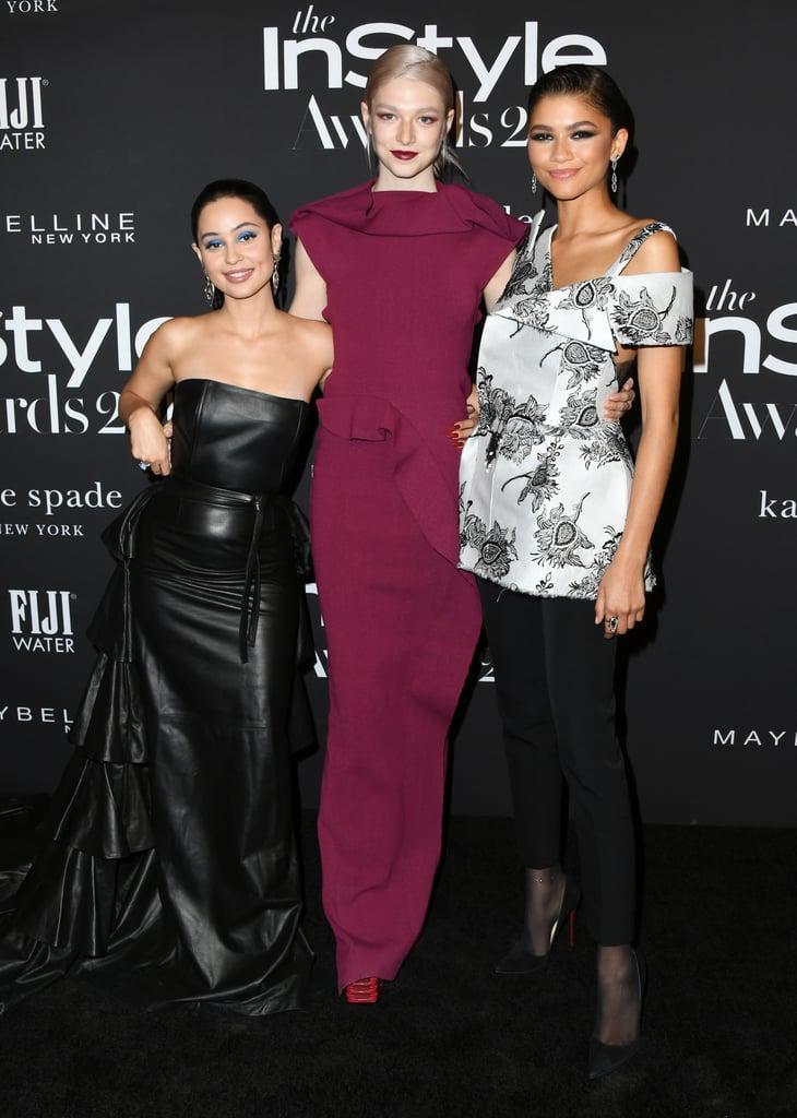 Alexa Demie, Hunter Schafer, and Zendaya at the 2019 InStyle Awards