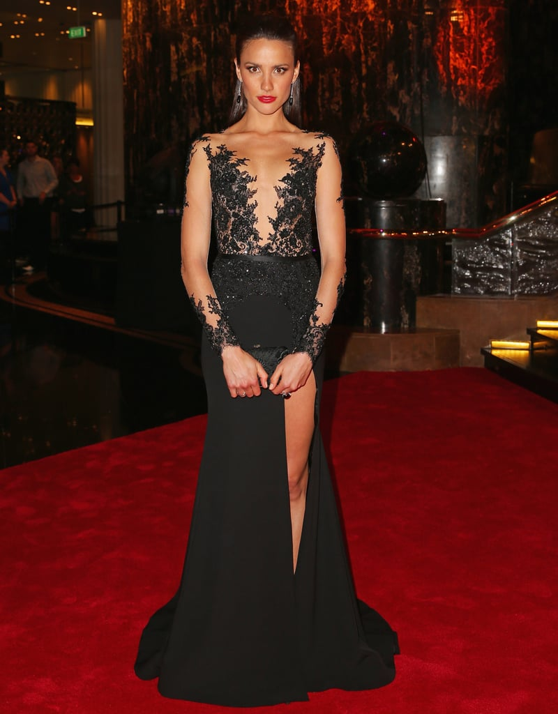 Rachael Finch went uber-glam in Paolo Sebastian at the 2014 Brownlow Medal on Monday.