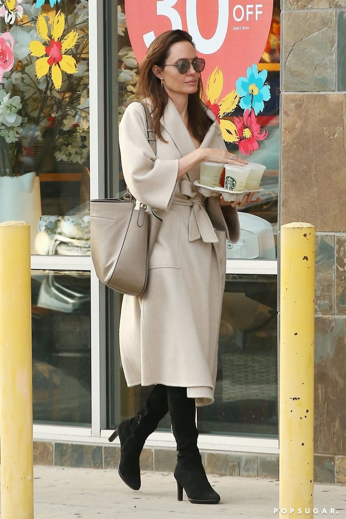 Angelina Jolie Leather Tote Bag