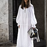 Style your ethereal maxi with sneakers.